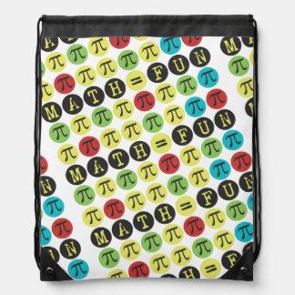 Sac Avec Cordons Les maths égalent l'amusement - cadeau drôle de pi