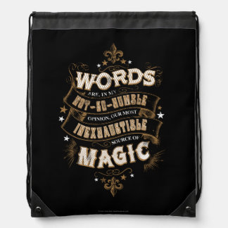 Sac Avec Cordons Les mots du charme | de Harry Potter sont notre la
