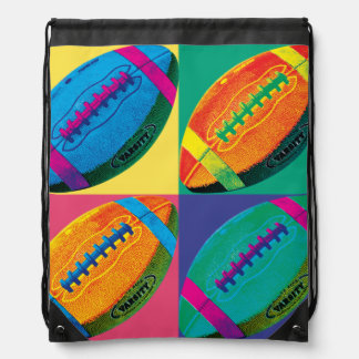 Sac Avec Cordons Les quatre football dans différentes couleurs