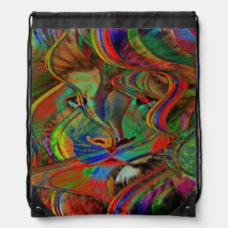 Sac Avec Cordons Lion abstrait