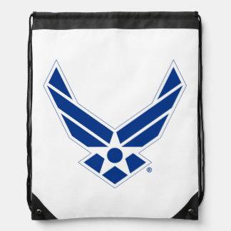 Sac Avec Cordons Logo d'armée de l'air des États-Unis - Bleu