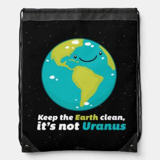 Sac Avec Cordons Maintenez la terre propre