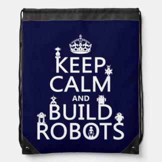 Sac Avec Cordons Maintenez les robots calmes et de construction