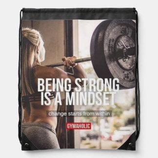 Sac Avec Cordons Mentalité forte - la forme physique des femmes