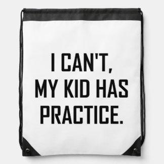 Sac Avec Cordons Mon enfant a la pratique drôle