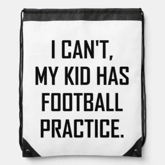 Sac Avec Cordons Mon enfant a la pratique en matière du football