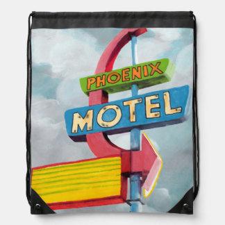 Sac Avec Cordons Motel de Phoenix d'aquarelle
