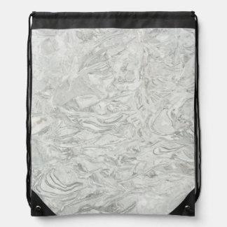 Sac Avec Cordons Motif extérieur de marbre gris
