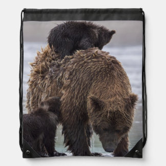 Sac Avec Cordons Parc national de Clark de lac bear de Brown |