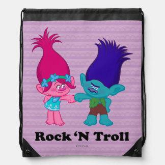 Sac Avec Cordons Pavot des trolls | et branche - roche 'N Troll