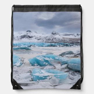 Sac Avec Cordons Paysage de glace de glacier, Islande