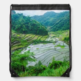 Sac Avec Cordons Paysage de terrasse de riz, Philippines