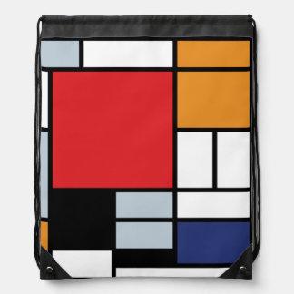 Sac Avec Cordons Piet Mondrian - composition avec le grand avion