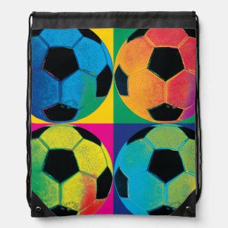 Sac Avec Cordons Quatre ballons de football dans différentes