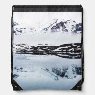 Sac Avec Cordons Réflexions de montagne, Norvège