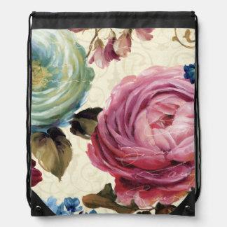 Sac Avec Cordons Rose et rose de bleu