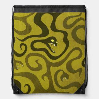Sac Avec Cordons Serpents et tentacules drôles verts dans l'amour