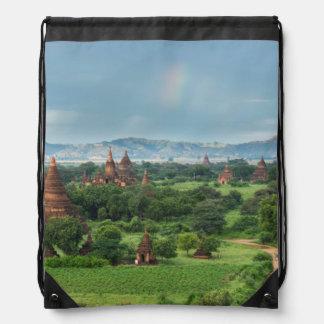 Sac Avec Cordons Temples dans Bagan, Myanmar