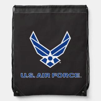 Sac Avec Cordons U.S. Logo de l'Armée de l'Air - bleu