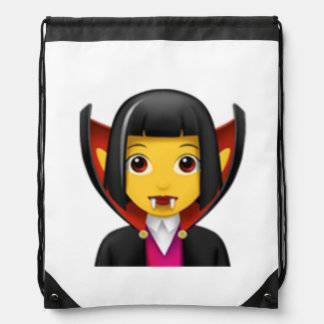 Sac Avec Cordons Vampire de femme - Emoji