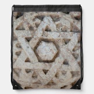 Sac Avec Cordons Vieille étoile de David découpant, Israël