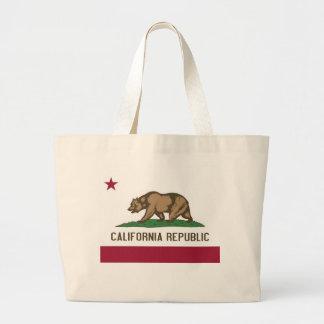 Sac avec le drapeau de l'état de la Californie -