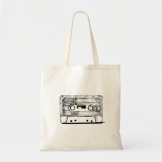Sac Bag - Cassette / K7 Vintage - Retro Cream White