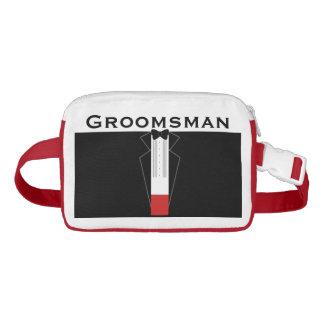 Sac Banane Smoking Groomsman personnalisé épousant le paquet