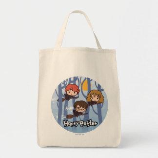 Sac Bande dessinée Harry, Ron, et vol de Hermione en