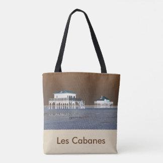 "sac "" Bassin d'arcachon"" recto -""LesCabanes"" verso"