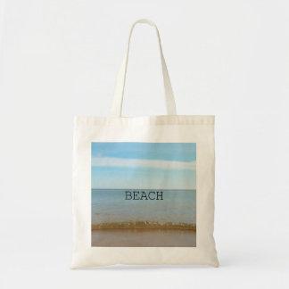 Sac Beau bonheur de plage avec la vague douce