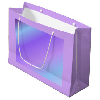 Sac bleu-clair pourpre de cadeau