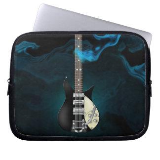 Sac bleu de l'électronique de guitare électrique d housse ordinateur