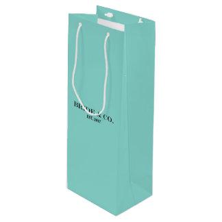 Sac bleu turquoise de vin de partie de douche de