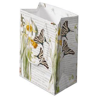 Sac botanique de cadeau de fleurs de papillon de
