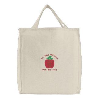 Sac Brodé Apple red delicious customisent le motif de