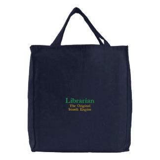 Sac Brodé Bibliothécaire, le moteur de recherche original