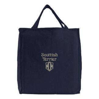 Sac Brodé Cadeaux de maman de Terrier d'écossais