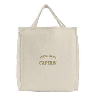 Sac Brodé Capitaine Bag de nom de bateau de Pesonalised