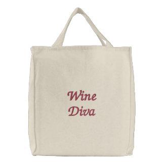 Sac Brodé Diva de vin