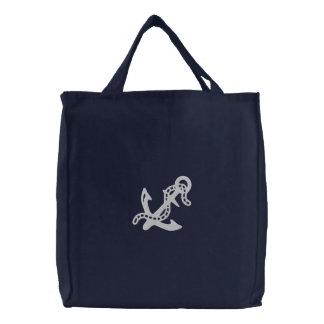 Sac Brodé La garde côtière nautique de marine d'ancre et de