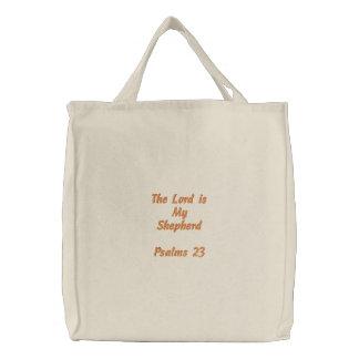 Sac Brodé Le seigneur est mon ShepherdPsalms 23