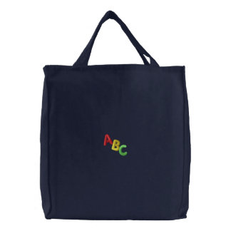 Sac Brodé Lettres d'ABC