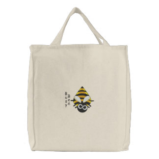 Sac Brodé Petite abeille mignonne - motif de broderie de