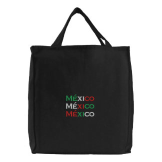 Sac Brodé Sac, lindo du Mexique, tricolore