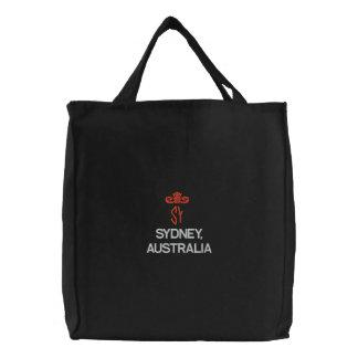 SAC BRODÉ SYDNEY, AUSTRALIE FOURRE-TOUT NOIR