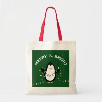 Sac Cadeau de Noël de pingouin d'amusement