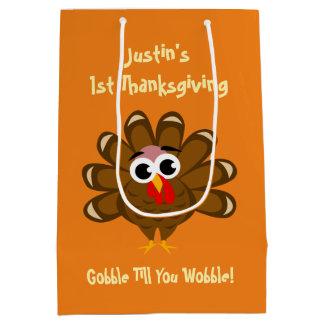Sac Cadeau Moyen Ă?re partie de jour du thanksgiving du bébé