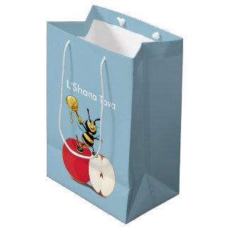 Sac Cadeau Moyen Abeille Apple Rosh HaShana