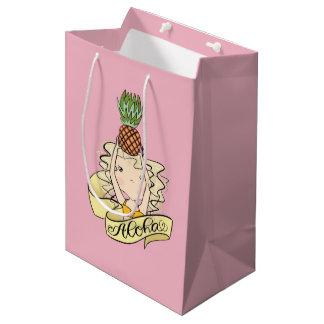 Sac Cadeau Moyen Aloha fille avec l'ananas